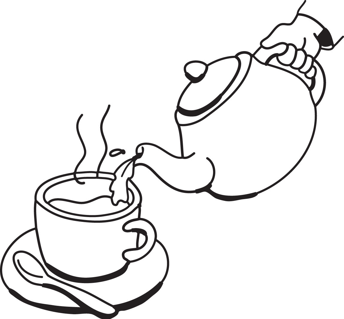 Man pouring clipart black and white free stock Teapot Black And White | Free download best Teapot Black And White ... free stock