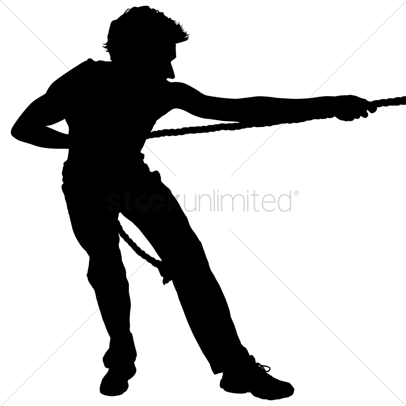 Man pulling rope clipart black and white image library library Businessman pulling a rope silhouette Vector Image - 1463609 ... image library library