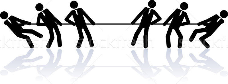 Man pulling rope clipart black and white svg freeuse Pulling Stock Vectors, Illustrations and Cliparts   Stockfresh svg freeuse