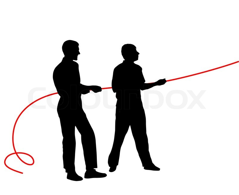 Man pulling rope clipart black and white clipart black and white Black silhouettes of people pulling ...   Stock vector ... clipart black and white