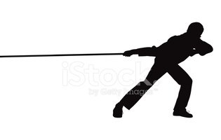 Man pulling rope clipart black and white graphic library download Big Pull stock vectors - Clipart.me graphic library download
