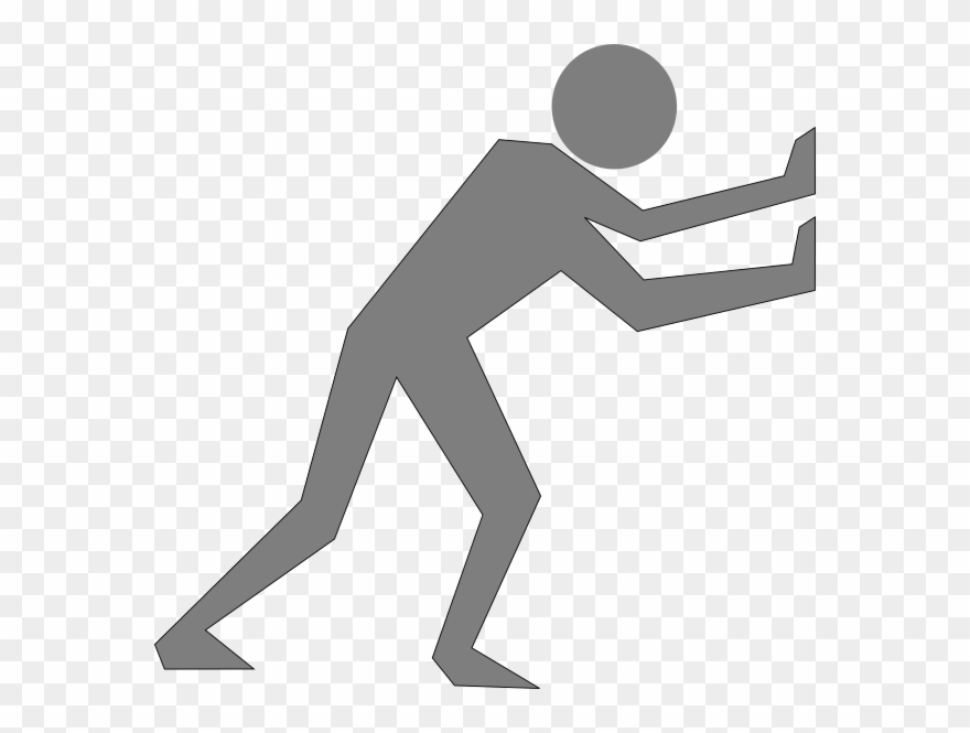 Man pushing clipart picture transparent stock Cartoon Man Pushing A Wall Clipart (#1472153) - PinClipart picture transparent stock