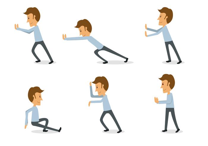 Man pushing clipart image freeuse download Man Pushing Free Vector Art - (15,820 Free Downloads) image freeuse download