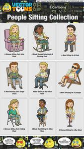Man and woman sitting on sofa clipart png freeuse download People Sitting Collection png freeuse download