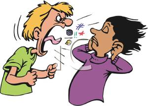 Boy shouting clipart clipart free A Man Yelling At a Girl - Royalty Free Clipart Picture clipart free