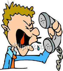 Man shouting on mountain clipart clip art freeuse stock A Man Yelling Into a Telephone - Royalty Free Clipart Picture clip art freeuse stock