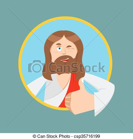 Man showing bible clipart clipart freeuse download EPS Vectors of Jesus hands shows thumbs upl. Son of God. Signs all ... clipart freeuse download