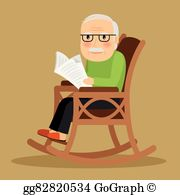Man sitting in a rocker free clipart svg royalty free stock Rocking Chair Clip Art - Royalty Free - GoGraph svg royalty free stock