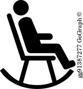 Man sitting in a rocker free clipart banner royalty free stock Rocking Chair Clip Art - Royalty Free - GoGraph banner royalty free stock