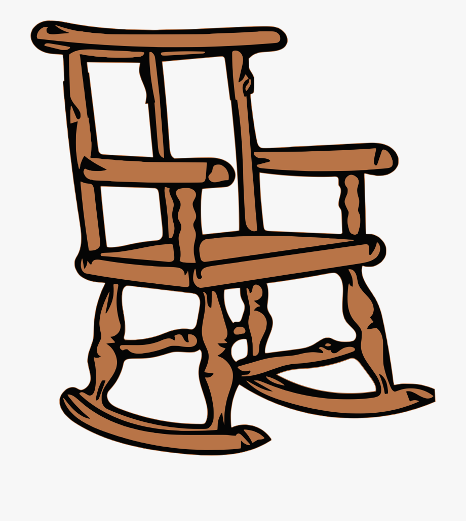 Man sitting in a rocker free clipart banner free library Clip Art Black And White Big Image Png - Wooden Rocking Chair Clip ... banner free library