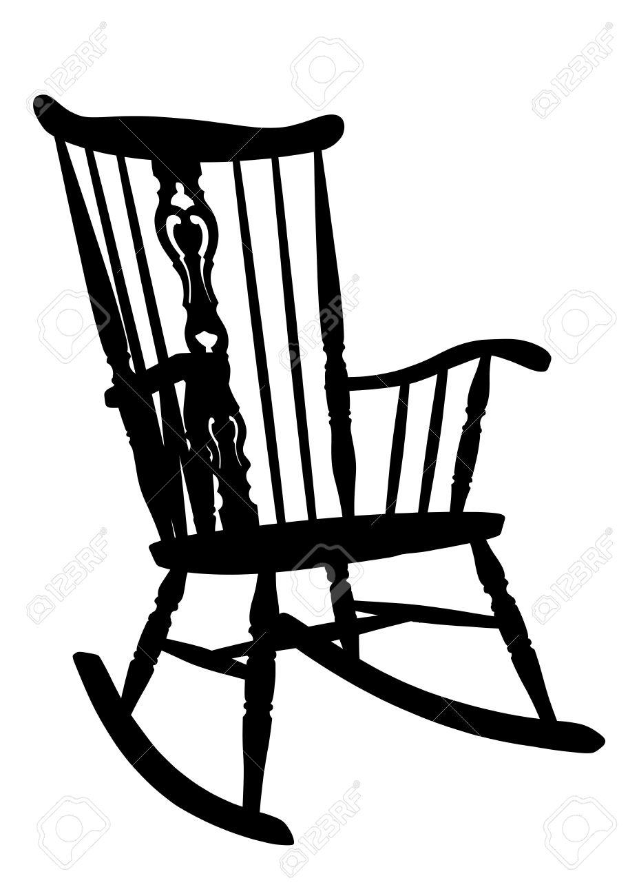 Vintage rocking chair clipart clip art black and white Cartoon Rocking Chair Clipart | Free download best Cartoon Rocking ... clip art black and white