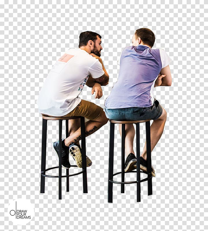 Man sitting in chair facing left clipart transparent Two man sitting on bar stools, Architecture Adobe shop Elements ... transparent