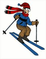 Man skiing clipart vector black and white download Free Skiing Clipart - Free Clipart Graphics, Images and Photos ... vector black and white download