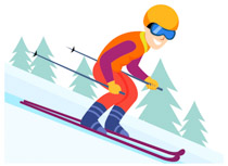 Man skiing clipart graphic black and white download Search Results for skiing - Clip Art - Pictures - Graphics ... graphic black and white download