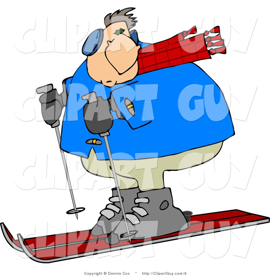Man skiing clipart clip art free download Clip Art of a Heavy Man Skiing | Clipart Panda - Free Clipart Images clip art free download