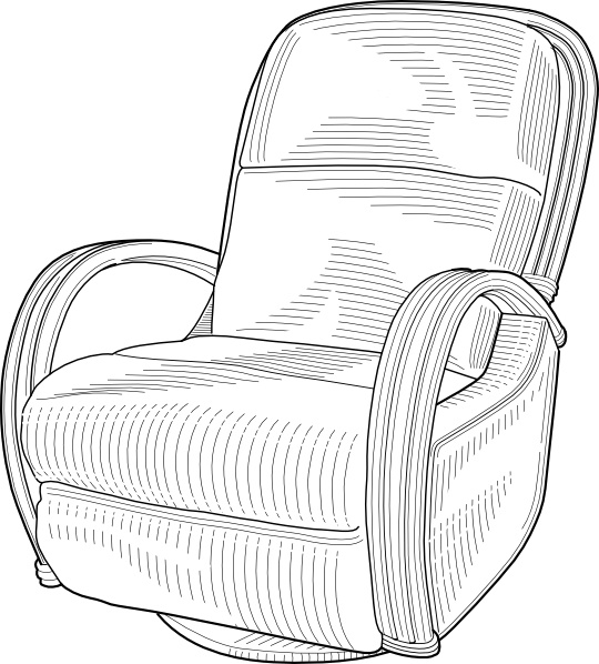 Recliner chair vector clipart black and white picture freeuse library Recliner Chair clip art Free vector in Open office drawing svg ... picture freeuse library