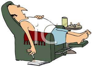 Man sleeping on recliner clipart black and white picture royalty free stock Showing Media & Posts for Funny man in recliner | www.picofunny.com picture royalty free stock