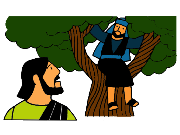 Man under tree clipart free Jesus And Zacchaeus Clipart & Jesus And Zacchaeus Clip Art Images ... free