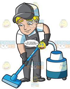 Man vacuuming clipart clip transparent library A Man Vacuuming The Floor clip transparent library