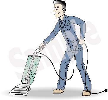 Man vacuuming clipart image library Man Vacuuming Clip Art image library
