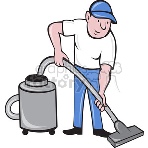 Man vacuuming clipart vector black and white man with vacuum clipart. Royalty-free clipart # 388448 vector black and white