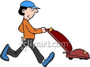 Man vacuuming clipart vector royalty free download Cartoon of a Man Vacuuming - Royalty Free Clipart Picture ... vector royalty free download