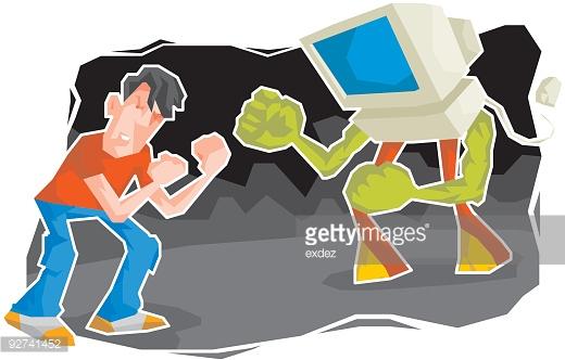 Man vs computer clipart svg Gaming Man Vs Computer Vector Art | Getty Images svg