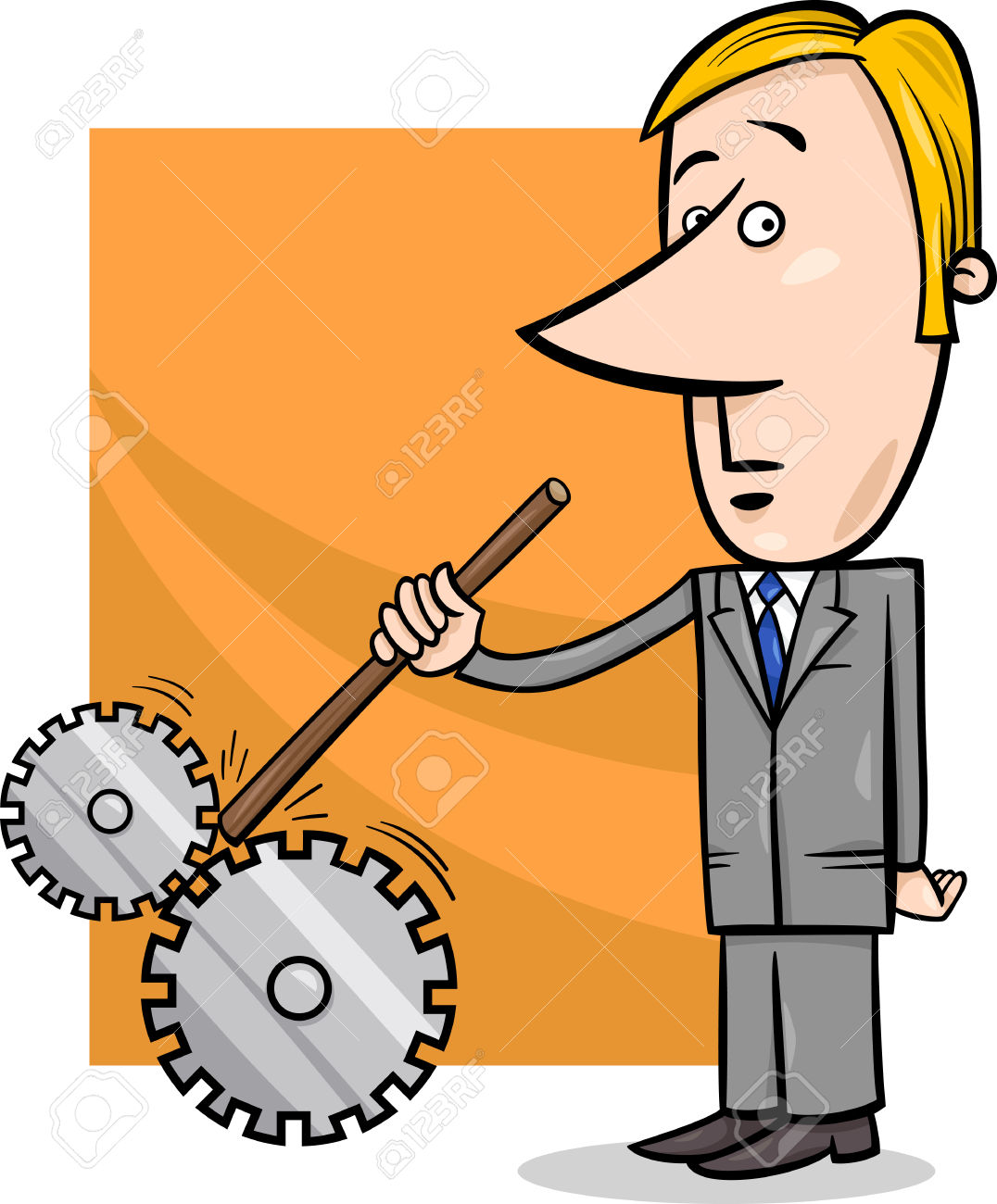 Man vs machine clipart jpg library library Concept Cartoon Illustration Of Saboteur Man Or Businessman ... jpg library library