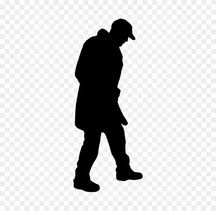 Man walking silhouette clipart vector library stock Download Man Silhouette Png Clipart Clip Art Silhouette - Person ... vector library stock
