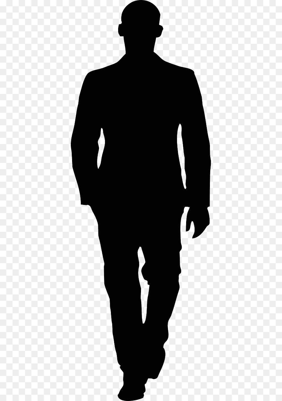 Man walking silhouette clipart free library Person Cartoon png download - 640*1280 - Free Transparent Silhouette ... free library