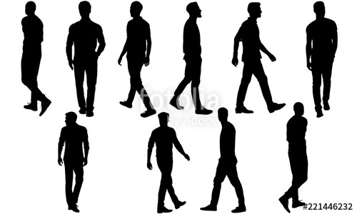 Man walking silhouette clipart png black and white stock Man Walking Silhouette, Man Walking Clipart, SVG, cut file, cricut ... png black and white stock