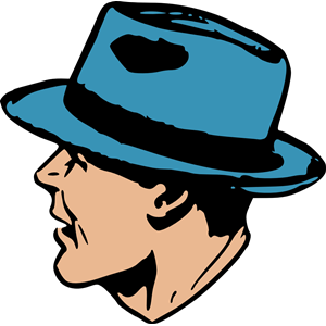 Man with a hat clipart