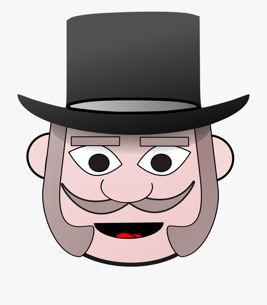 Top of the head clipart jpg freeuse Victorian Clip Art Man Head Top Hat - Man In Hat Clipart #124637 ... jpg freeuse