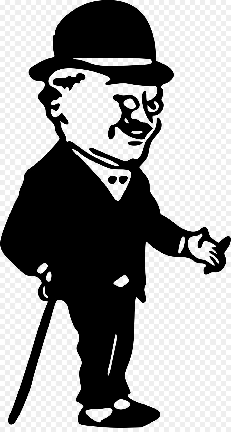 Man with a hat clipart clip black and white Top Hat Cartoon clipart - Hat, Silhouette, Line, transparent clip art clip black and white