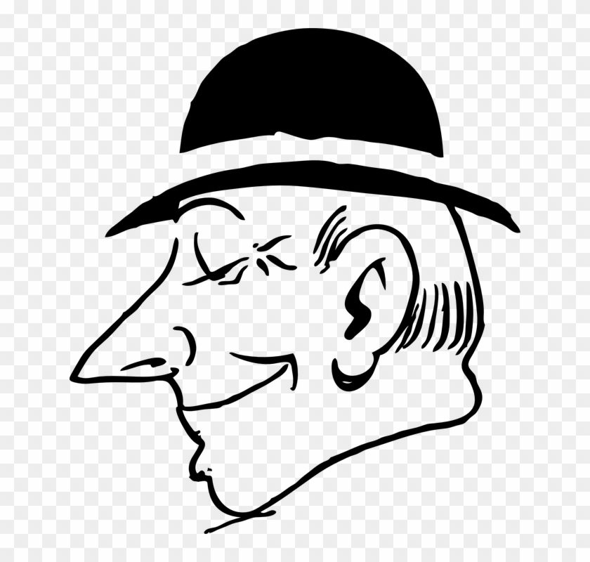 Man with a hat clipart jpg download Man With A Hat Clipart Black And White, HD Png Download - 642x720 ... jpg download