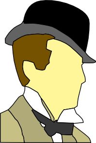 Man with a hat clipart transparent Man Wearing Hat Bowtie Clip Art at Clker.com - vector clip art ... transparent