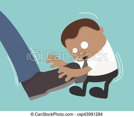 Man with big feet clipart png transparent Vector of Businessman big foot kicking illustration. Vector flat ... png transparent