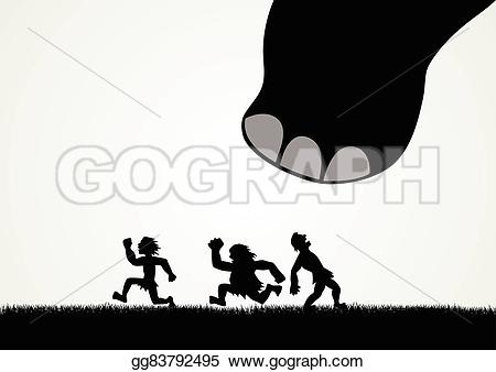Man with big feet clipart clip library library Vector Stock - Dinosaur's big feet. Clipart Illustration ... clip library library