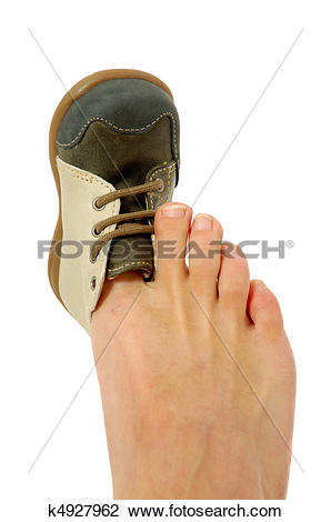 Man with big feet clipart jpg royalty free library Stock Photo of Big foot small shoe k4927962 - Search Stock ... jpg royalty free library
