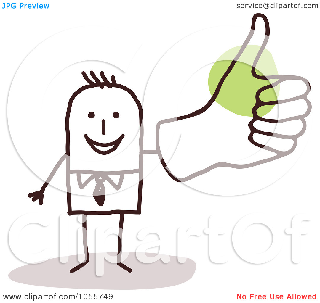 Man with big hand clipart vector royalty free library Royalty-Free Vector Clip Art Illustration of a Stick Man Giving A ... vector royalty free library
