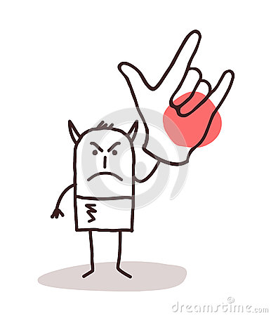 Man with big hand clipart png transparent library Cartoon Devil Man With Big Hand Sign Stock Vector - Image: 65676820 png transparent library