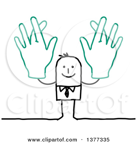 Man with big hand clipart transparent library Royalty-Free (RF) Fingers Crossed Clipart, Illustrations, Vector ... transparent library