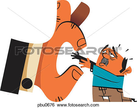 Man with big hand clipart vector freeuse library Stock Illustration of A man being picked up by a big hand pbu0676 ... vector freeuse library