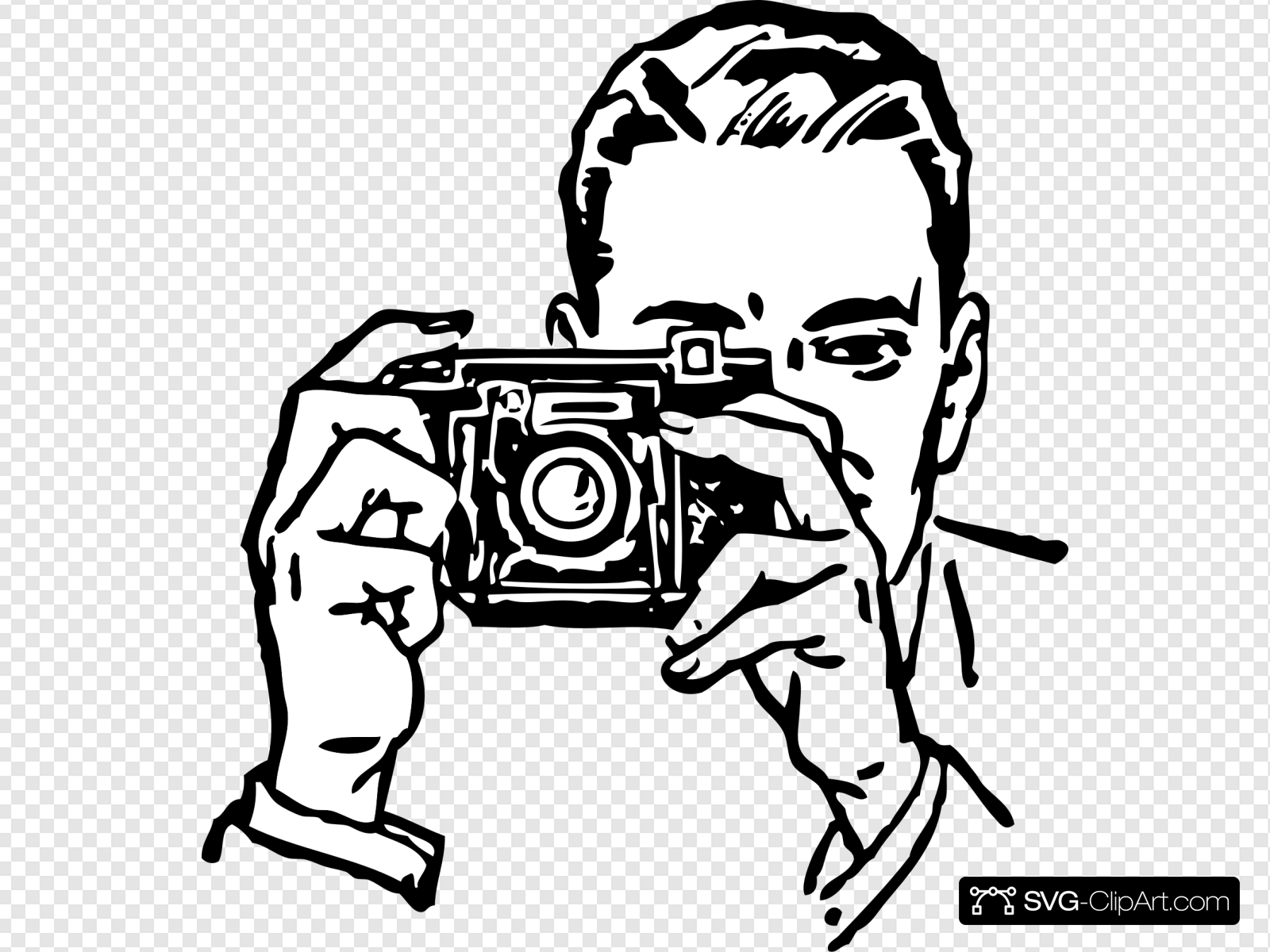Man with camera clipart clipart black and white Man With A Camera Clip art, Icon and SVG - SVG Clipart clipart black and white
