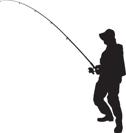 Man with fish black and white clipart graphic stock Man fishing clipart black and white jpg - Clipartix graphic stock