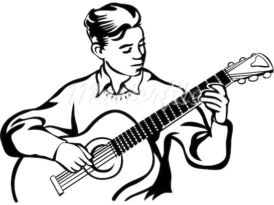 Playing guitar clipart black and white clipart black and white library Playing Guitar Clipart | Free download best Playing Guitar ... clipart black and white library
