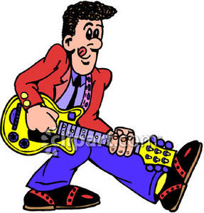 Man with guitar clipart clip art black and white library Free Clipart Man Playing Guitar & Clip Art Images #21433 ... clip art black and white library