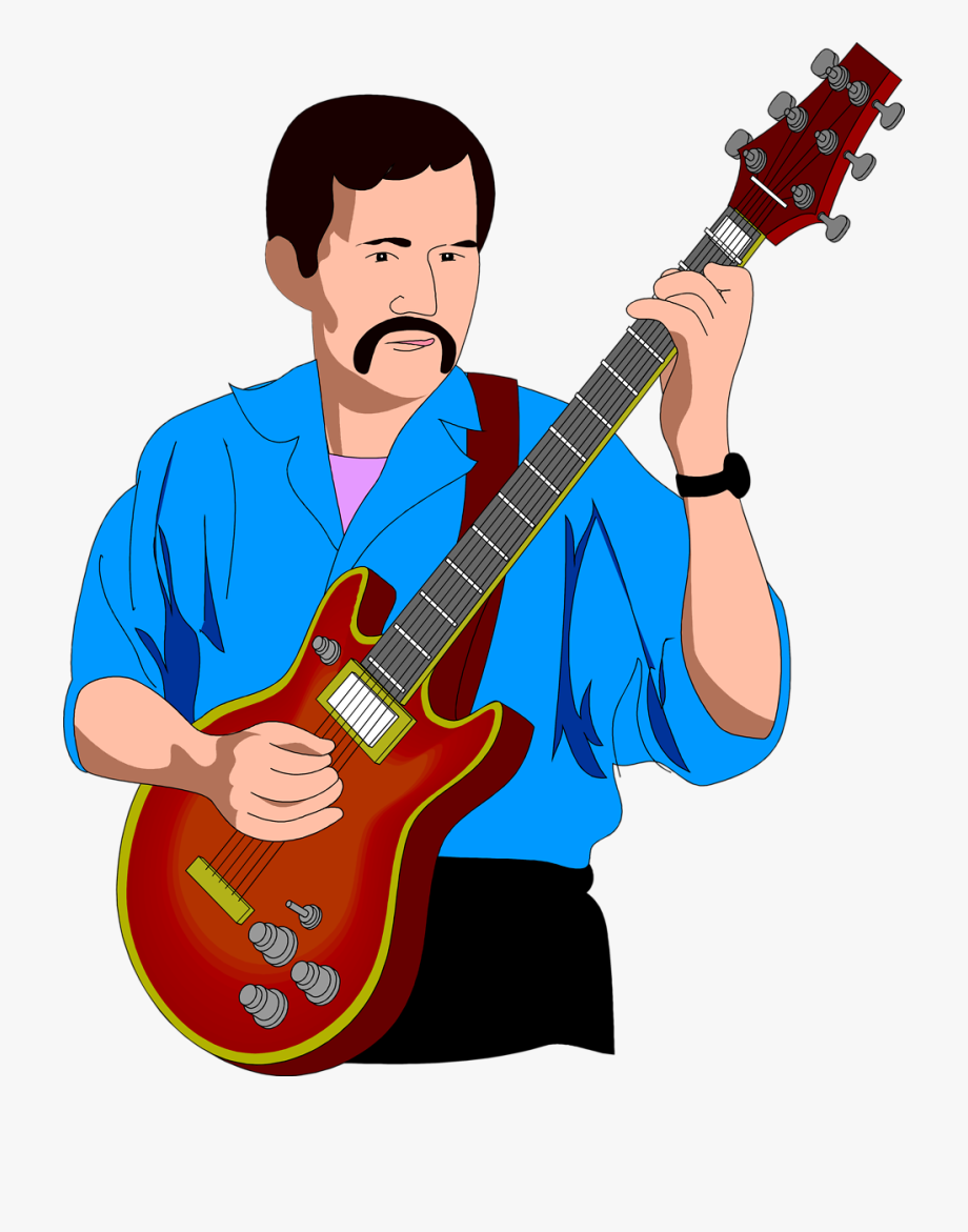 Man with guitar clipart picture freeuse Clip Freeuse Stock Ukulele Player Clipart - Man Playing ... picture freeuse