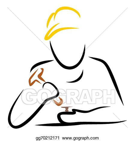 Man with hammer clipart png royalty free download Vector Art - Man with hammer. Clipart Drawing gg70212171 ... png royalty free download