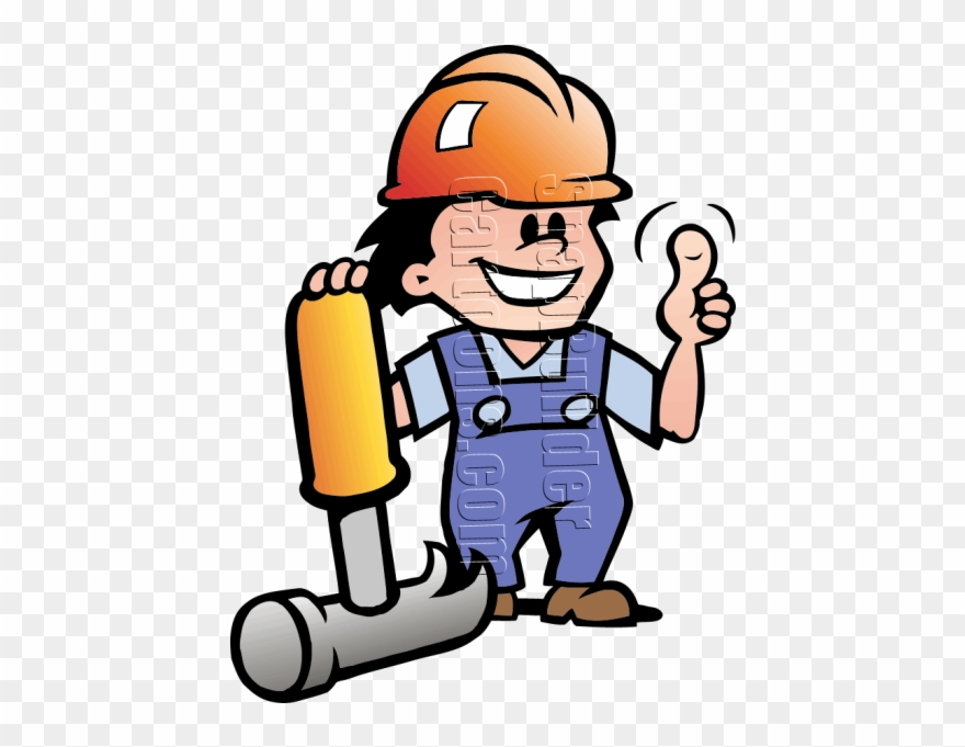 Man with hammer clipart picture royalty free Mechanic Man Hammer Hard Hat Mascot Logo Clipart (#3002076 ... picture royalty free